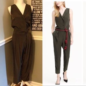 J Crew Green Trench Jumpsuit Size US 4